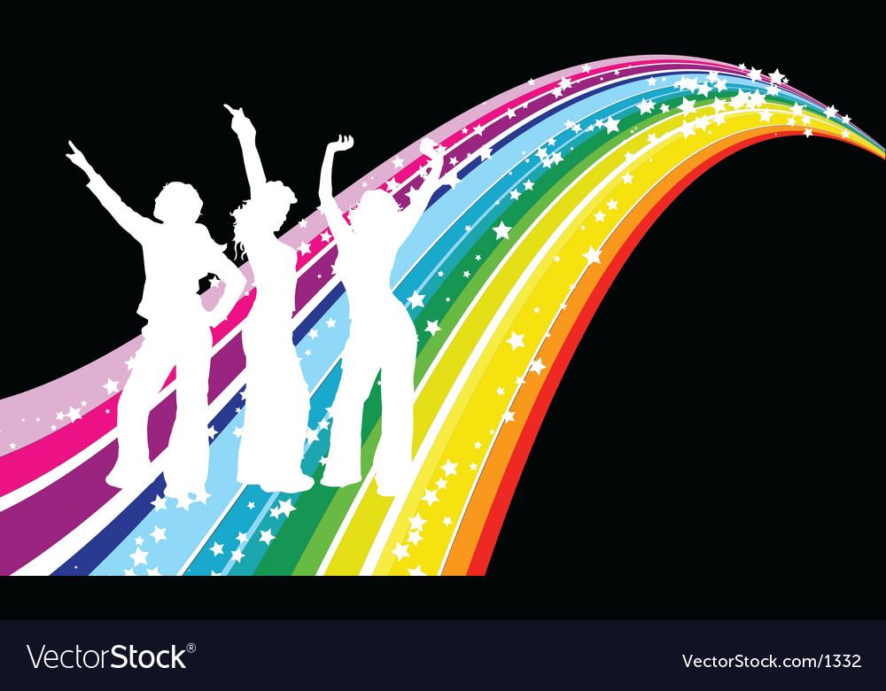 Disco dancers vector