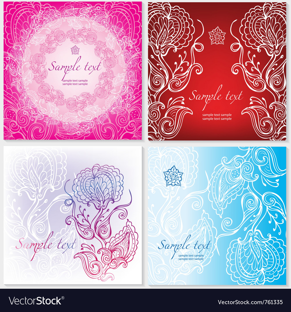 Template with floral ornament vector