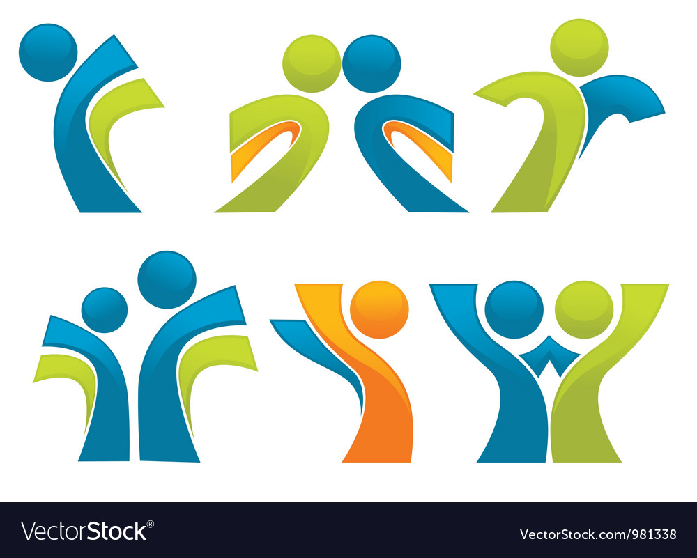 Abstract sportive people vector