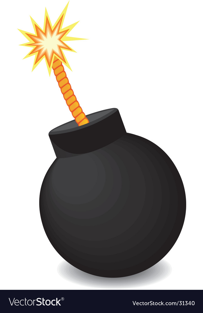 bomb with fire illustration vector