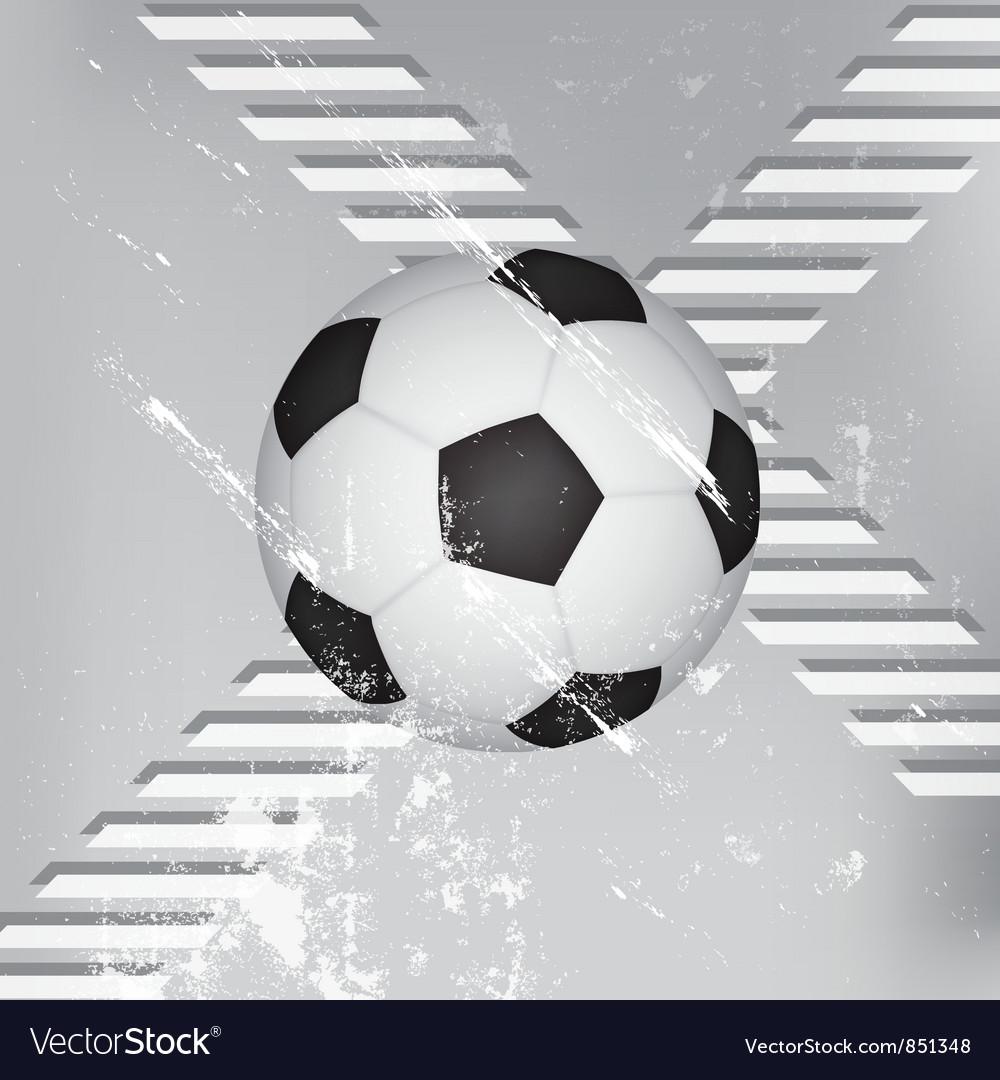 Grunge soccer ball background vector