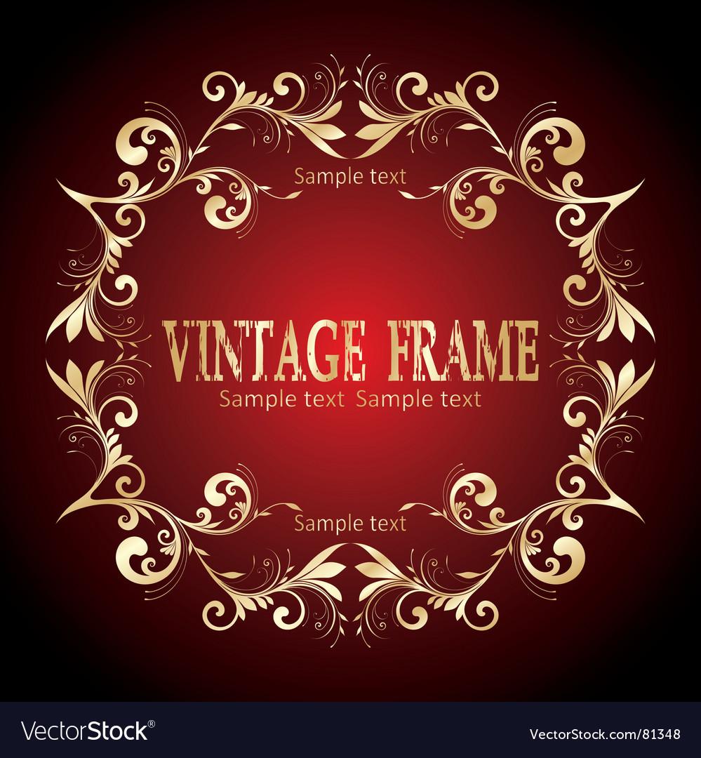Free vintage frame vector