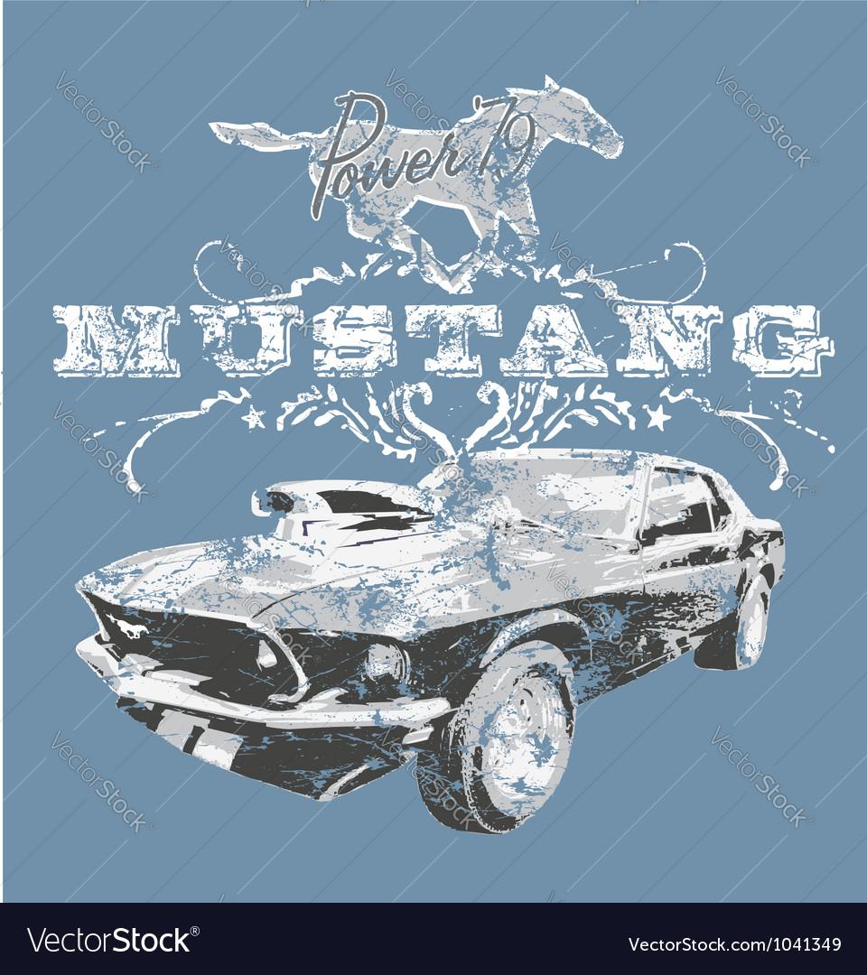 American classic sport car vector