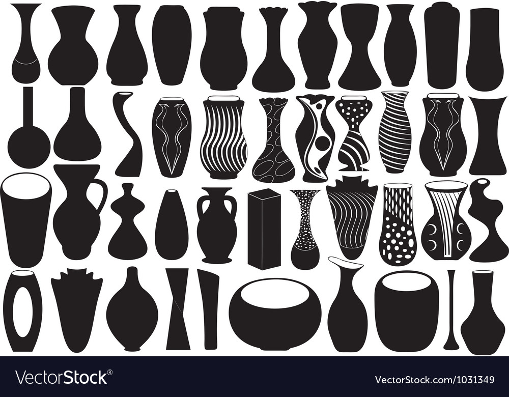 Vases for flower vector