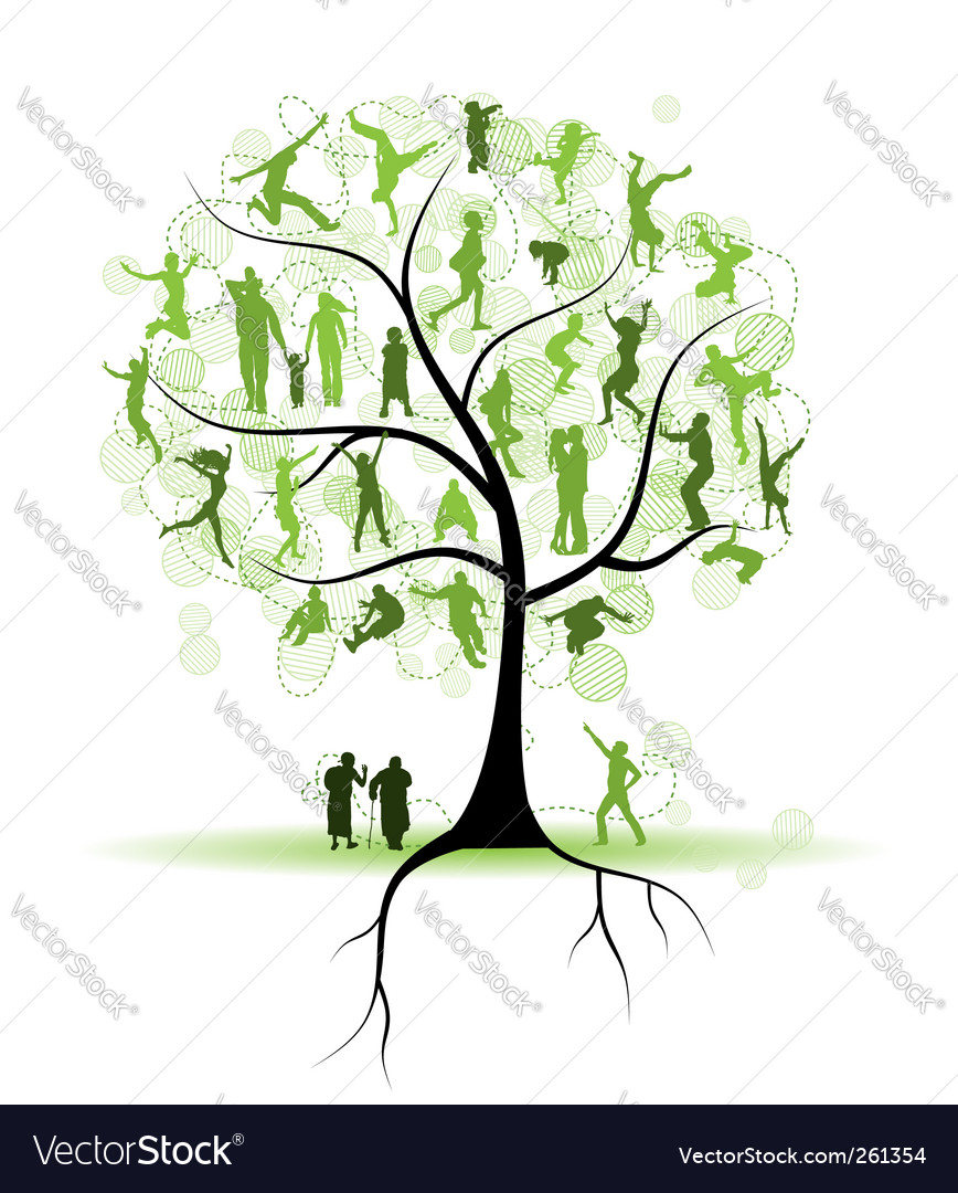 Colorful christmas tree of hands royalty free stock photos image - Family Tree Relatives People Silhouettes Vector By