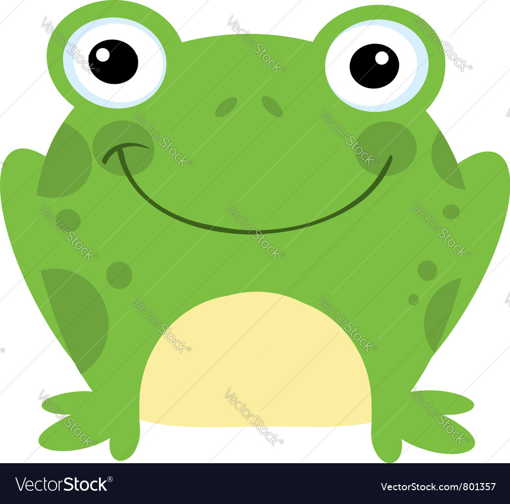 Smiling frog vector