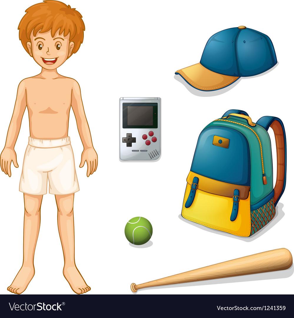 A baseball player vector