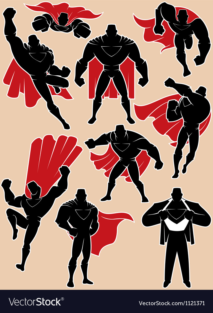 Superhero in action vector