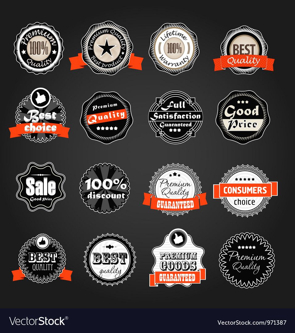 Shopping labels collection vector