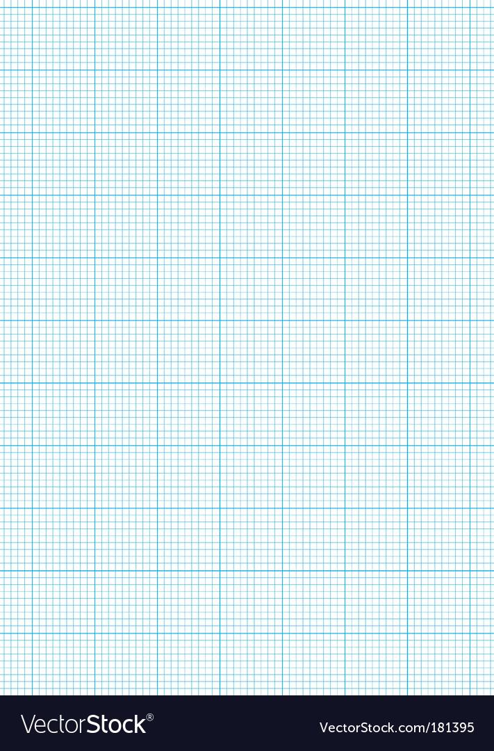 Graph paper a4 sheet vector