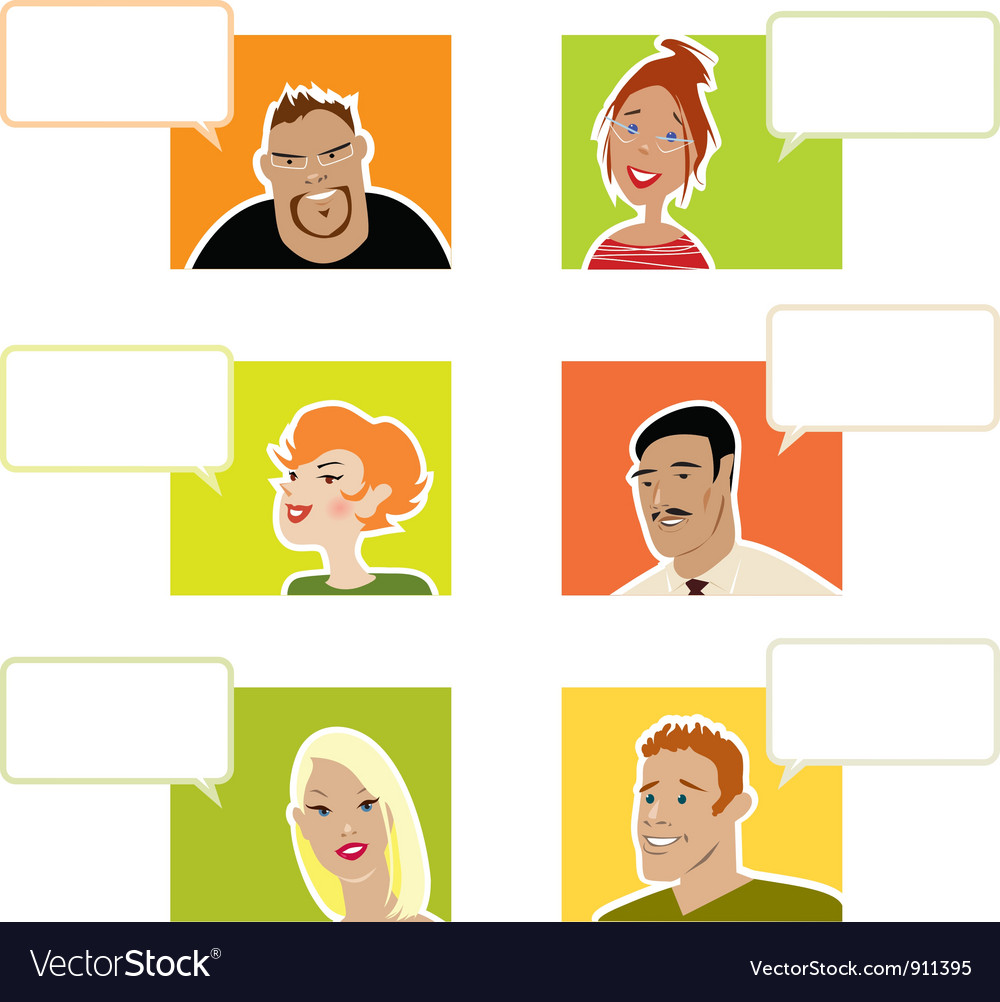 People with dialogue balloons vector