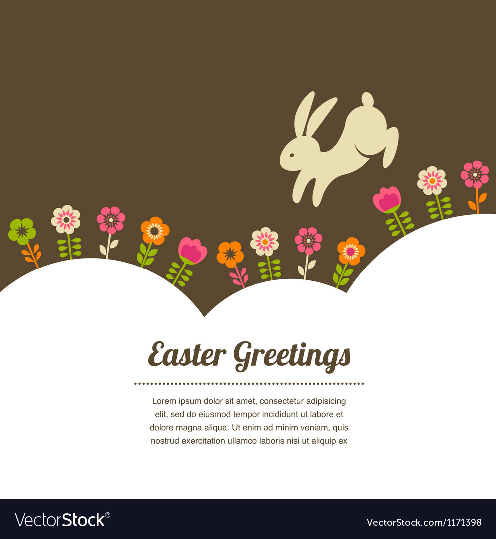 Easter vintage style greeting card vector