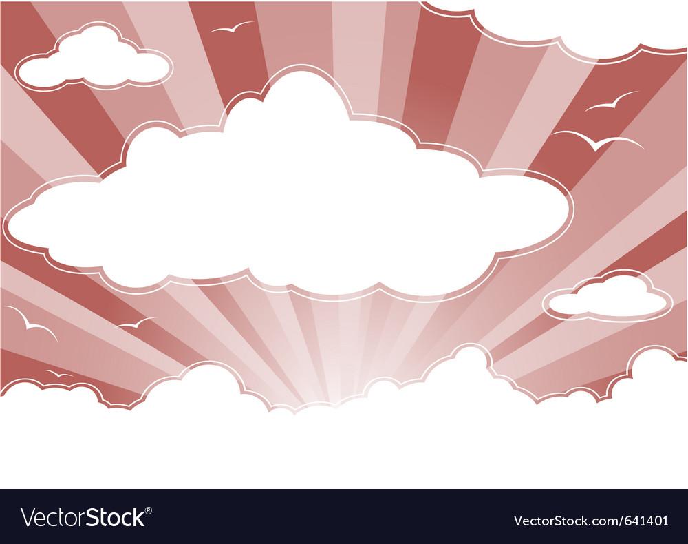 Evening sky vector