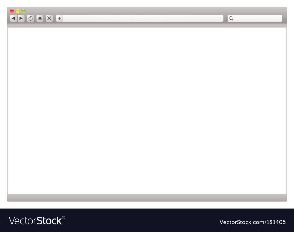 Internet web browser vector