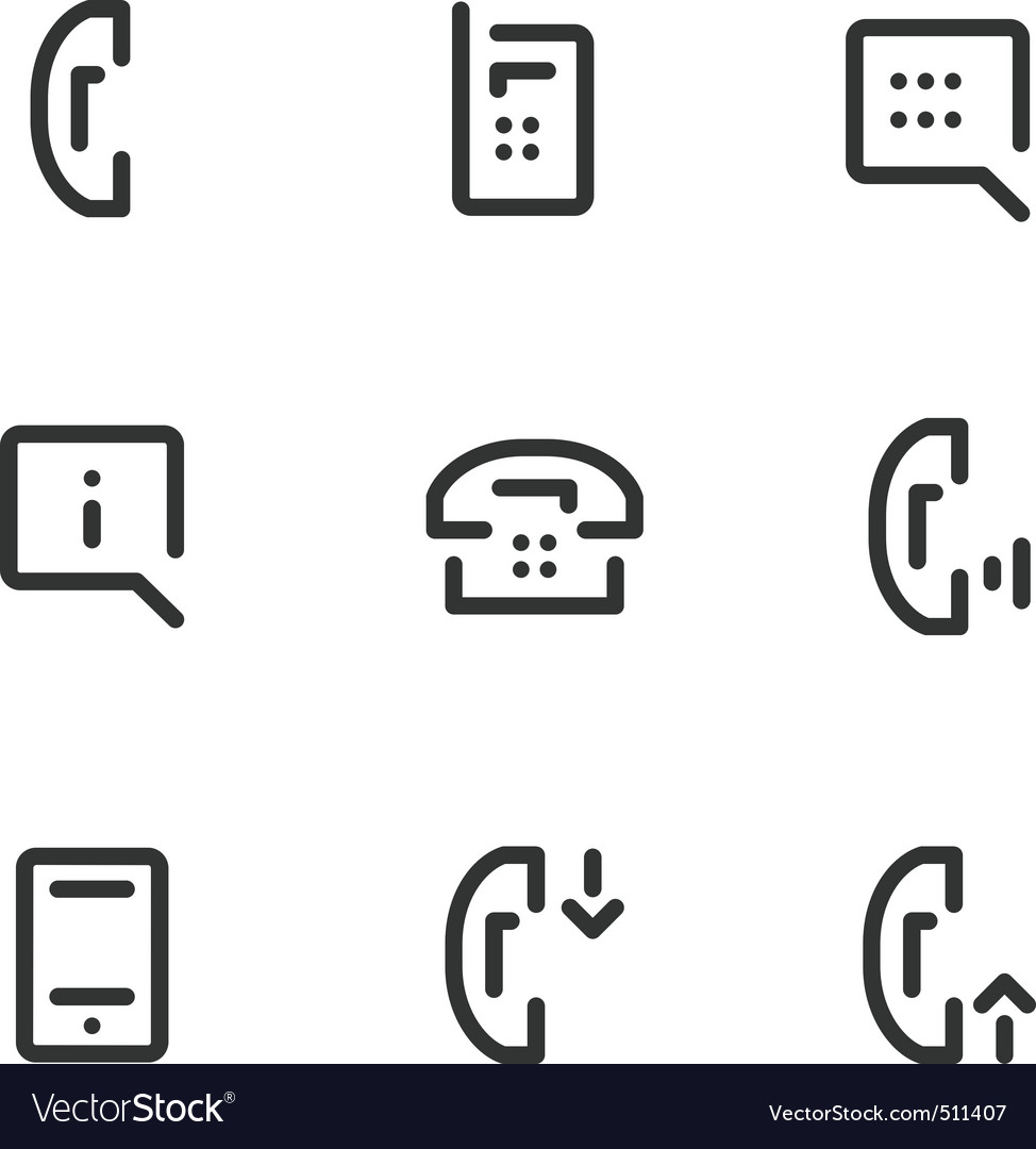 Call service icons vector