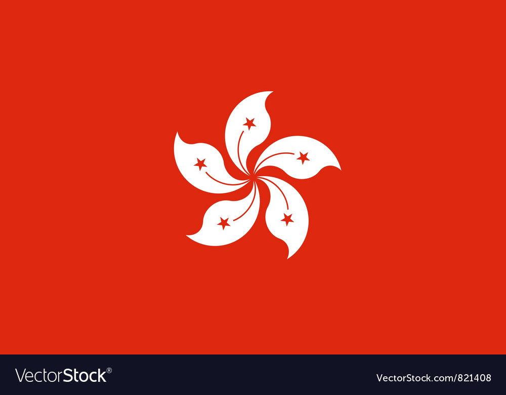 Hong kong flag vector