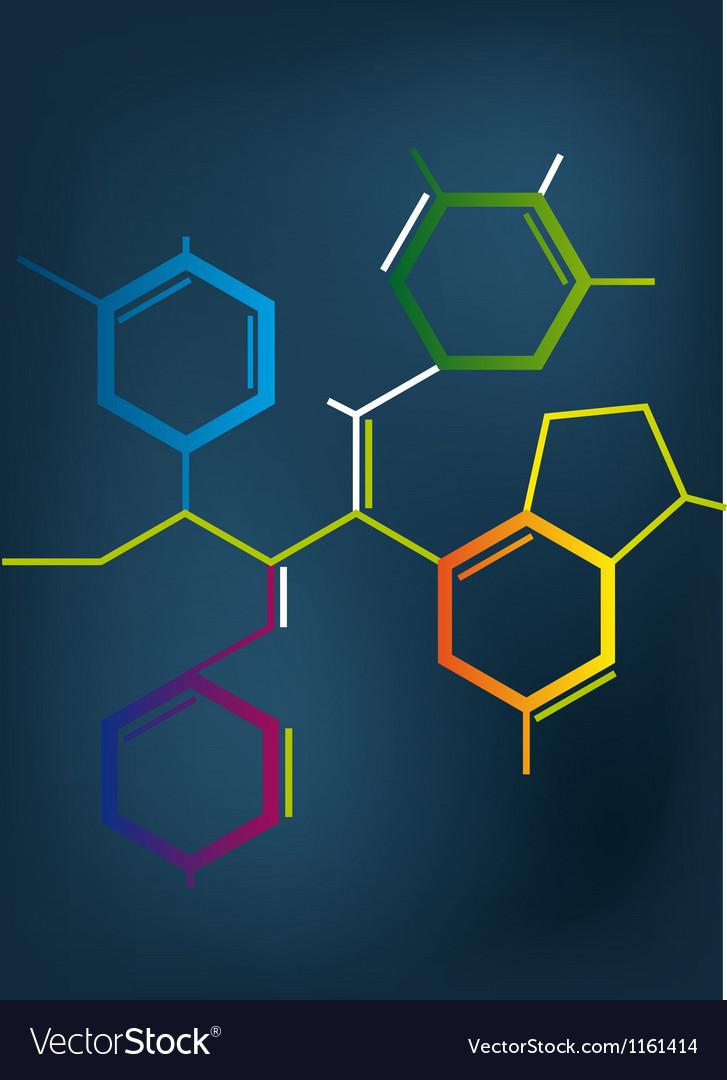 Abstract chemical formula vector