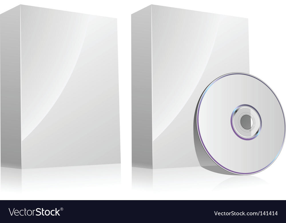 Software box vector