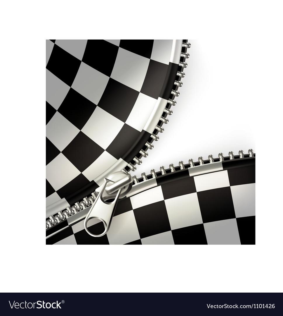 Zipper checkered vector