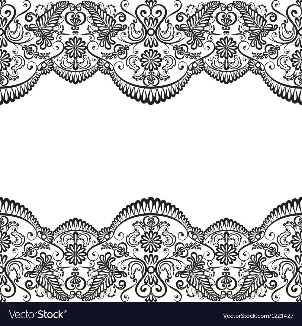 Card with lace vector by Prikhnenko - Image #1221427 - VectorStock