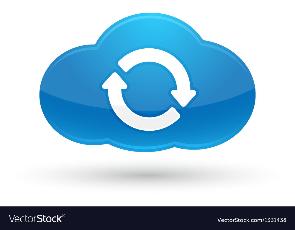 Cloud computing sync icon vector