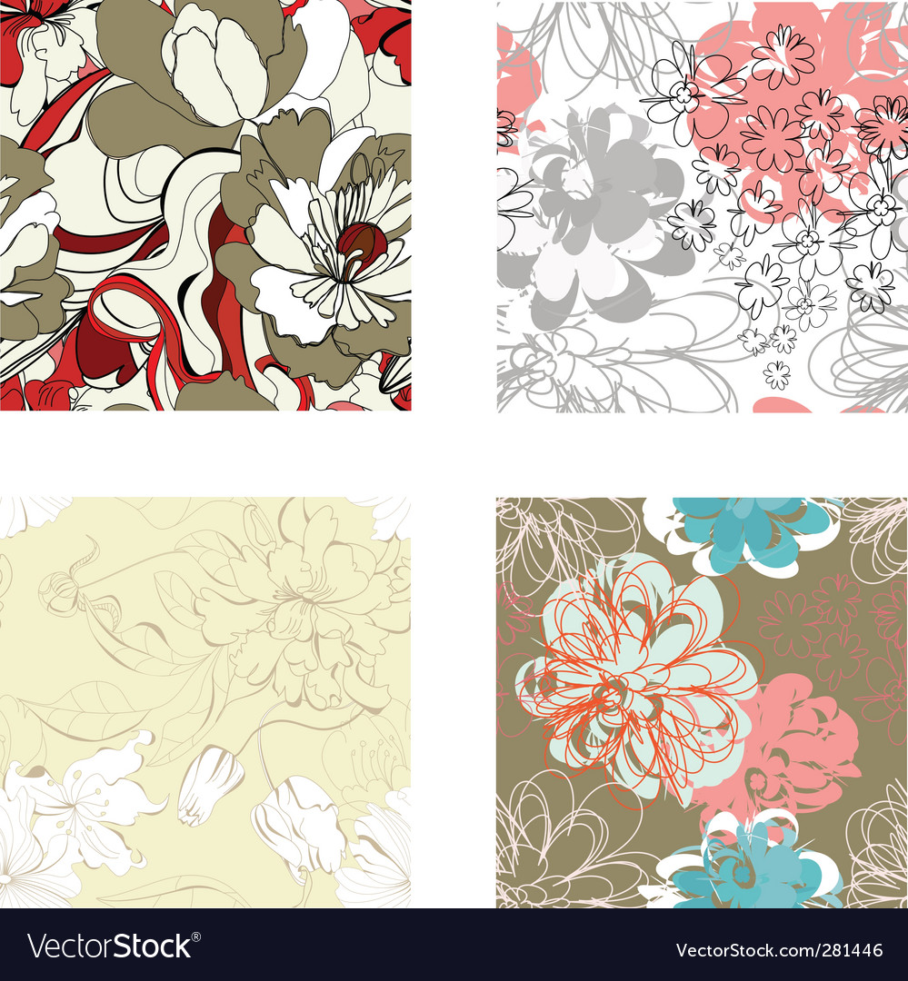 Set of seamless wallpaper vector