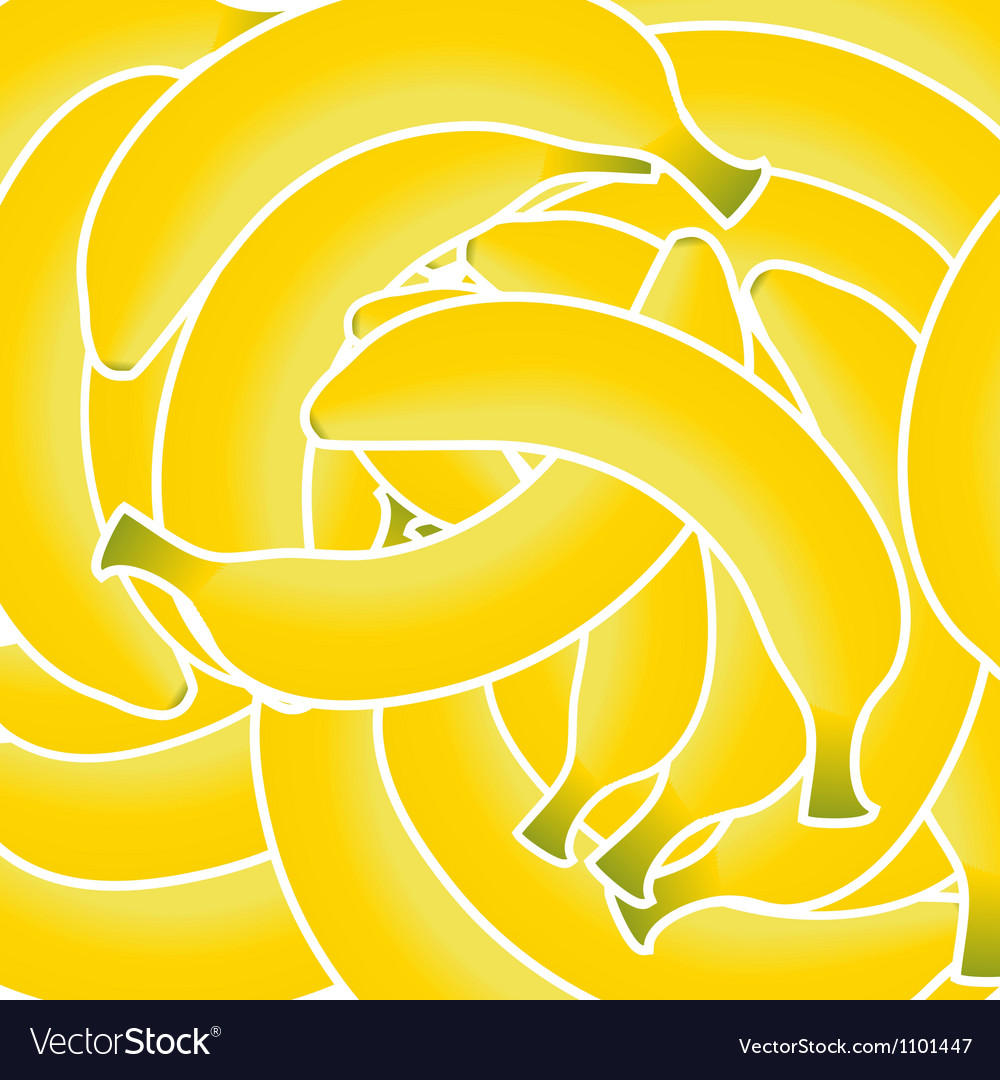 Sweet fresh yellow bananas background vector