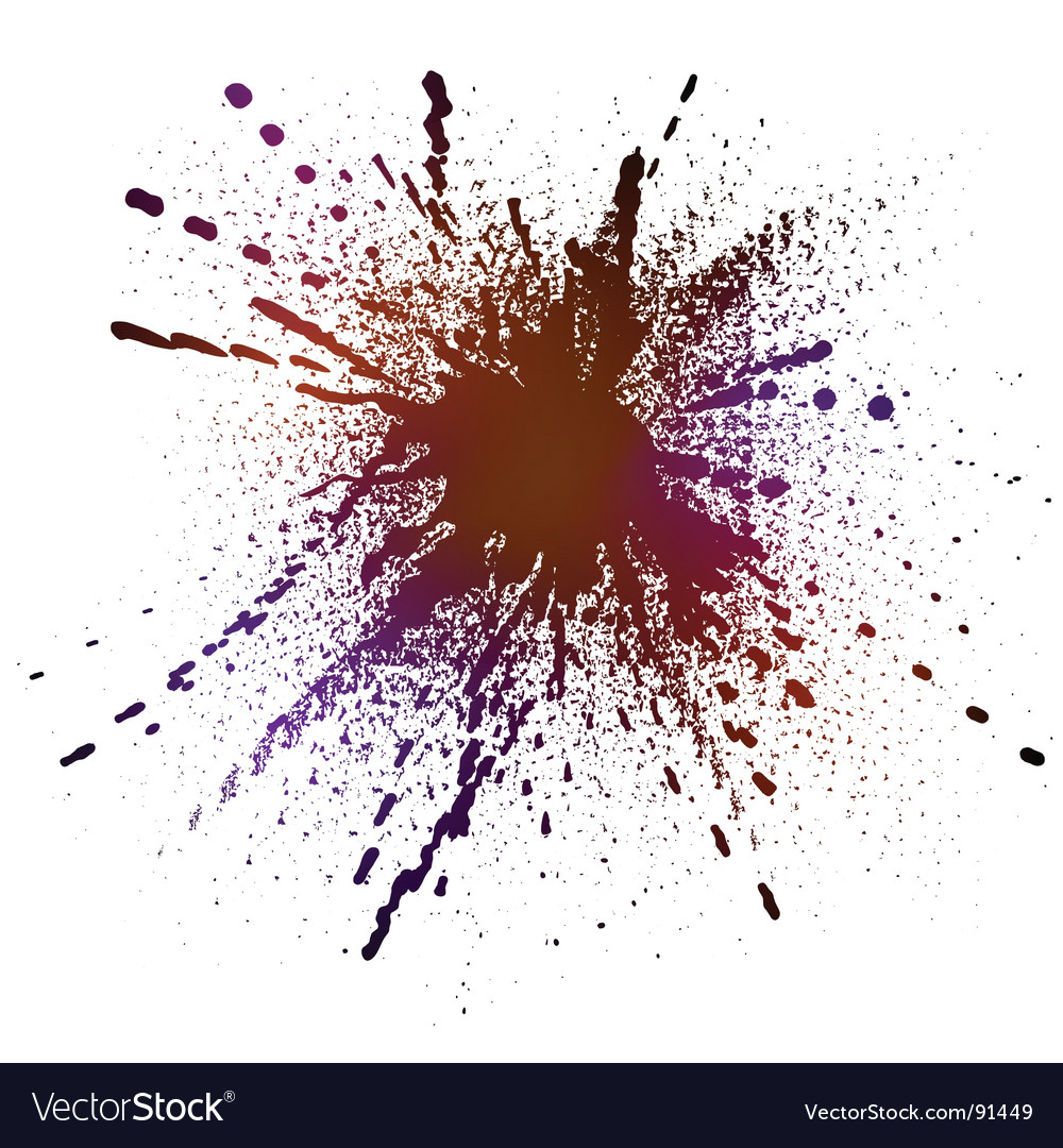Inky splash vector