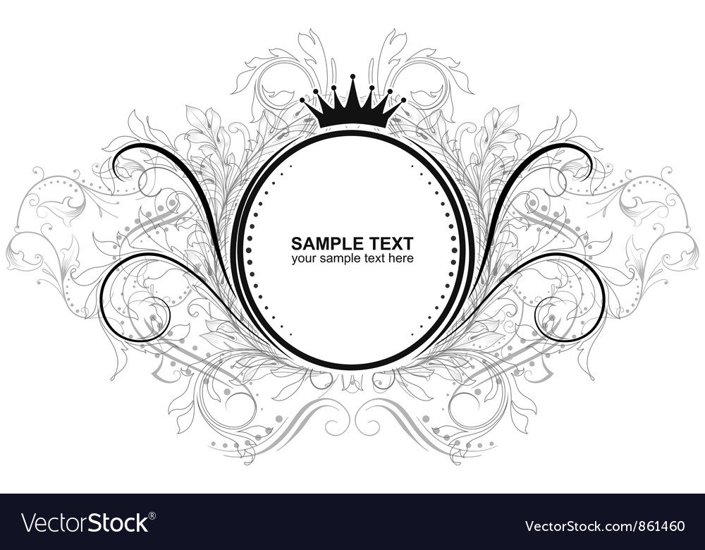 Vintage label with floral vector