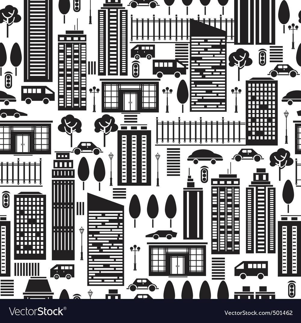 City pattern vector