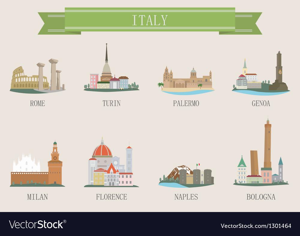 Italy city vector