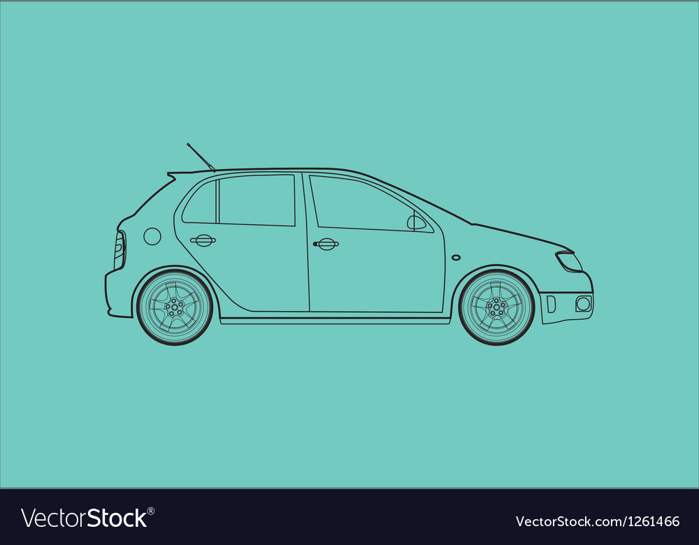 Car from the side vector