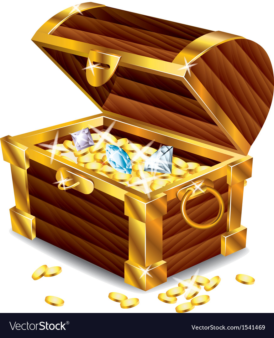 Treasures box vector