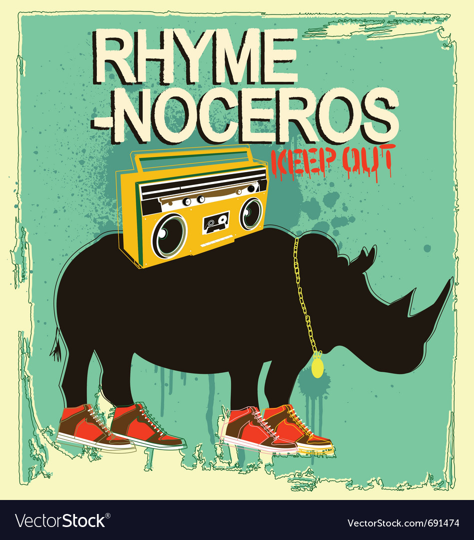 Free rhyme-noceros vector