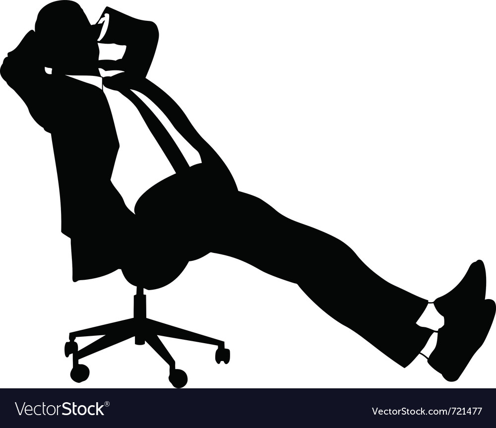 Businessman sitting on chair vector