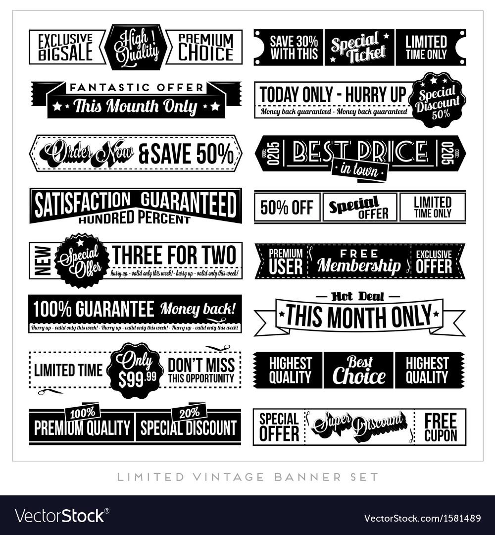 Vintage typographic business banner vector