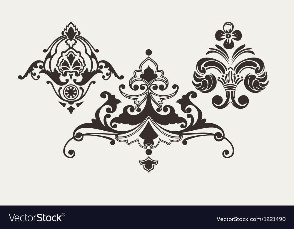 Calligraphic design elements for page decoration vector
