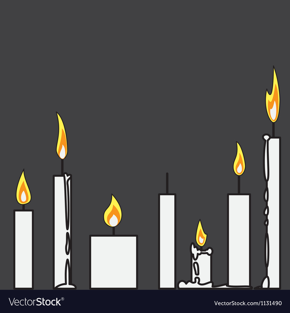Free candle vector