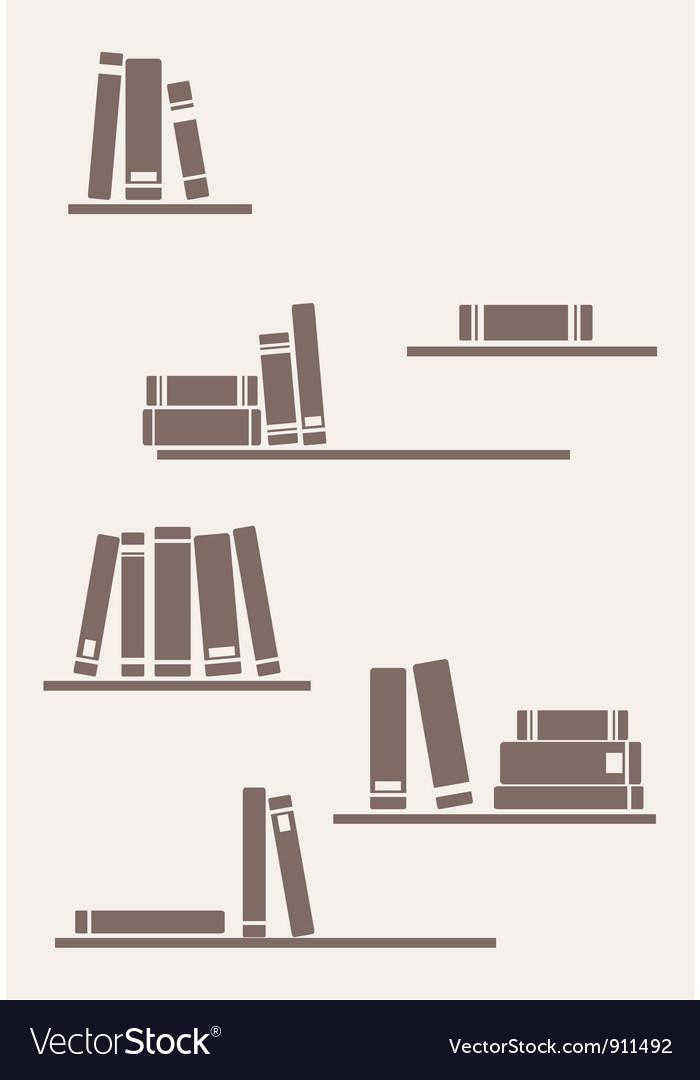 Simply retro books vector