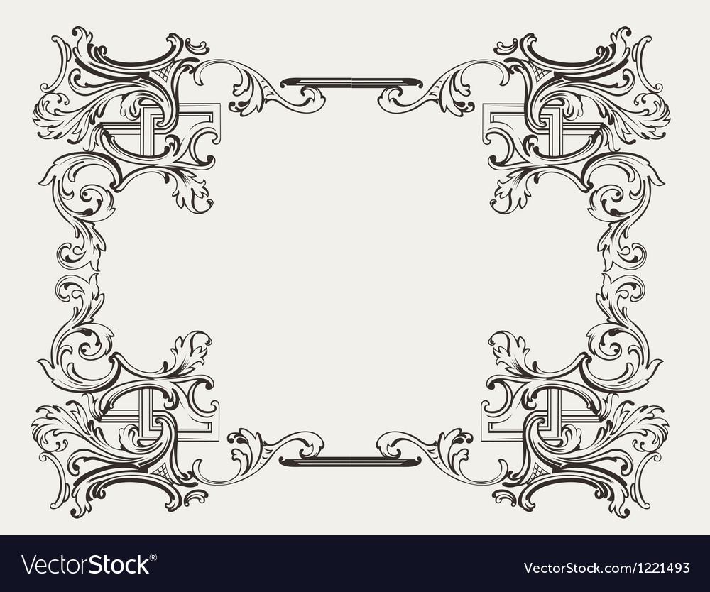 Original renaissance ornate frame vector
