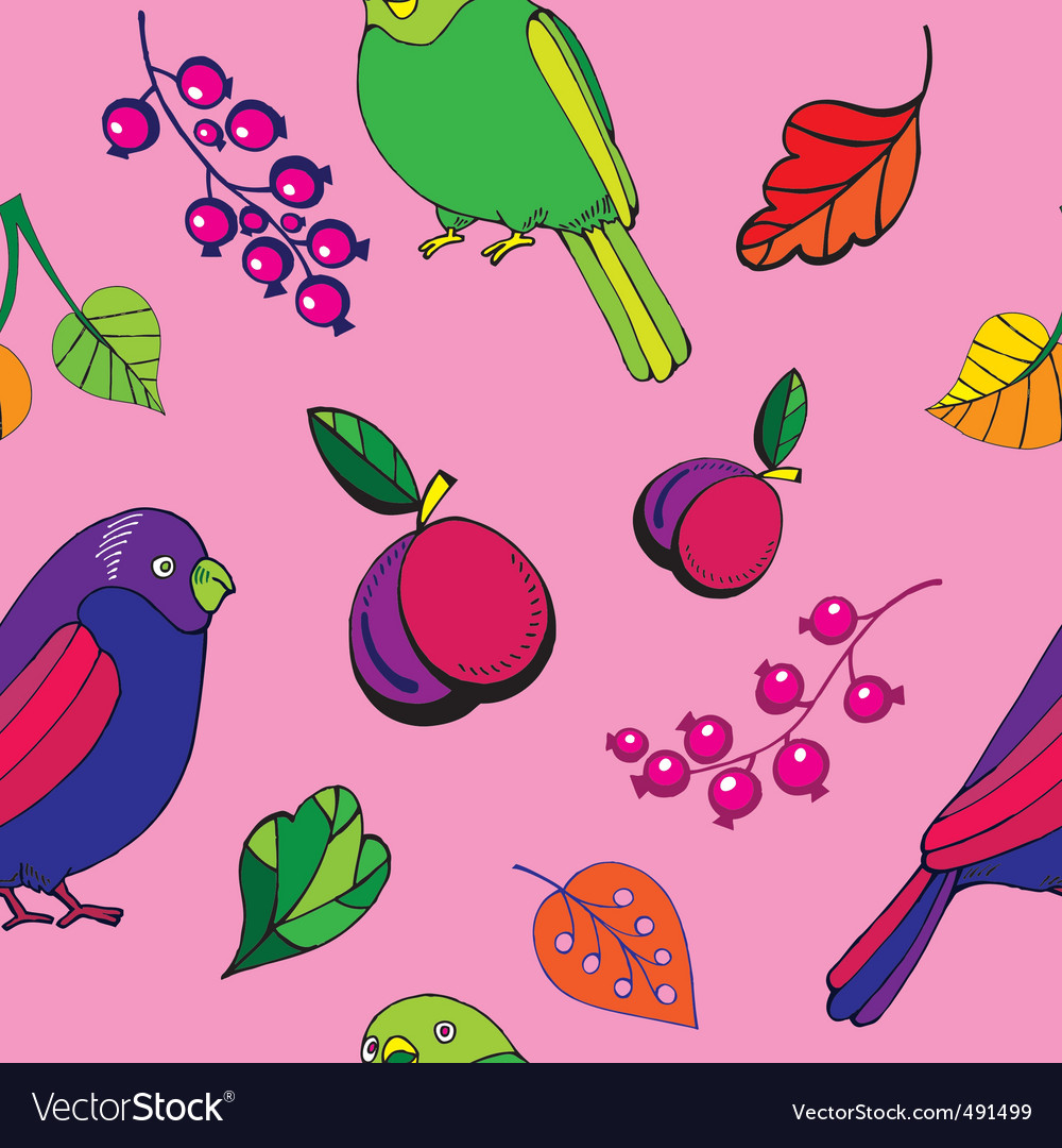 Parrot pattern vector
