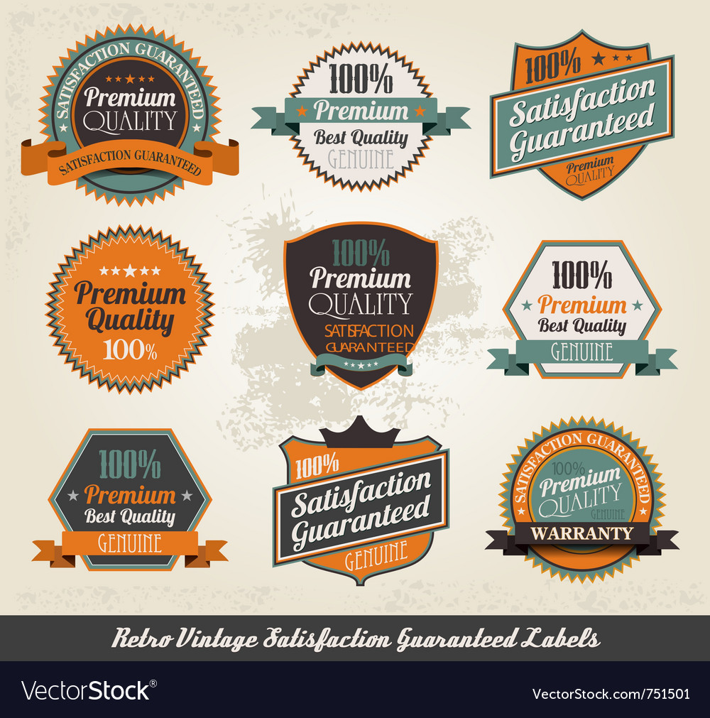 Vintage styled premium quality vector