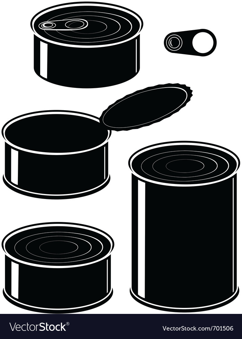 Canned food vector