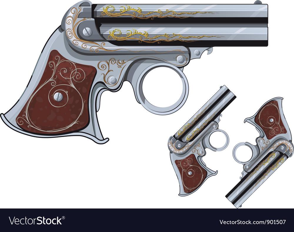 Derringer revolver vector