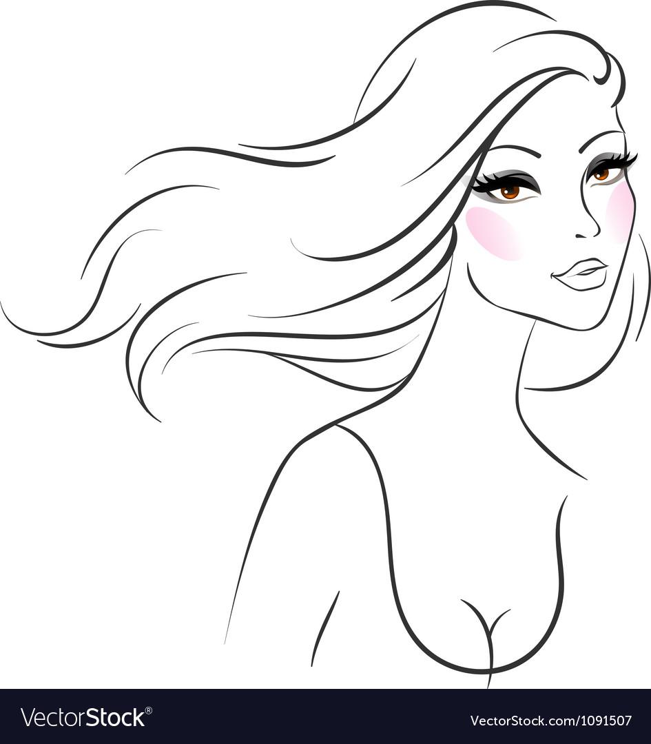 Woman line vector