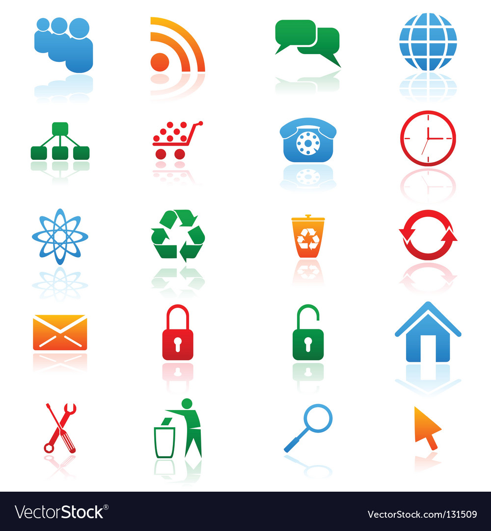 Colored icons vector