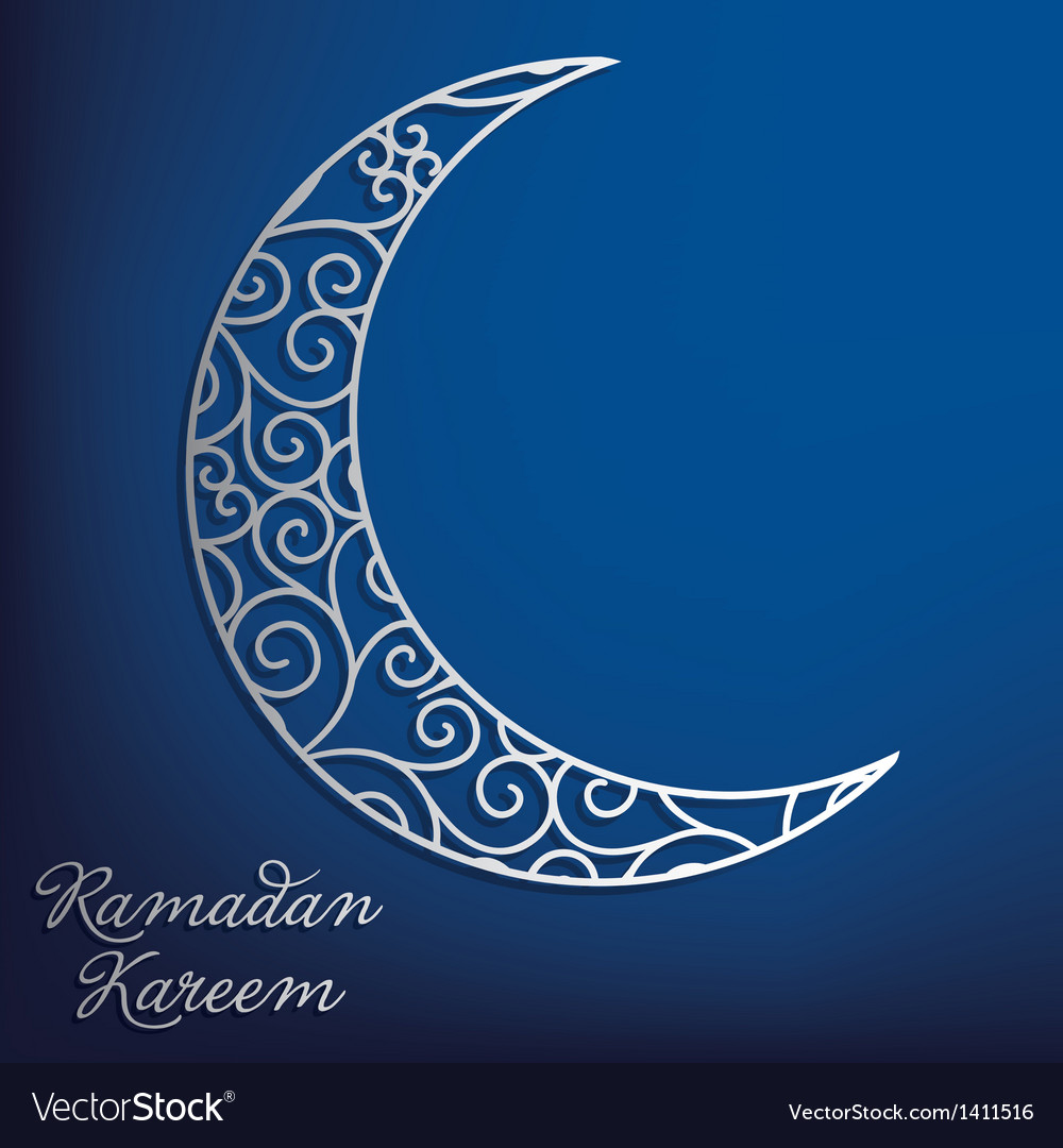 Crescent moon vector