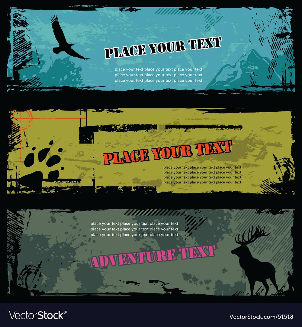 Wildlife banners vector