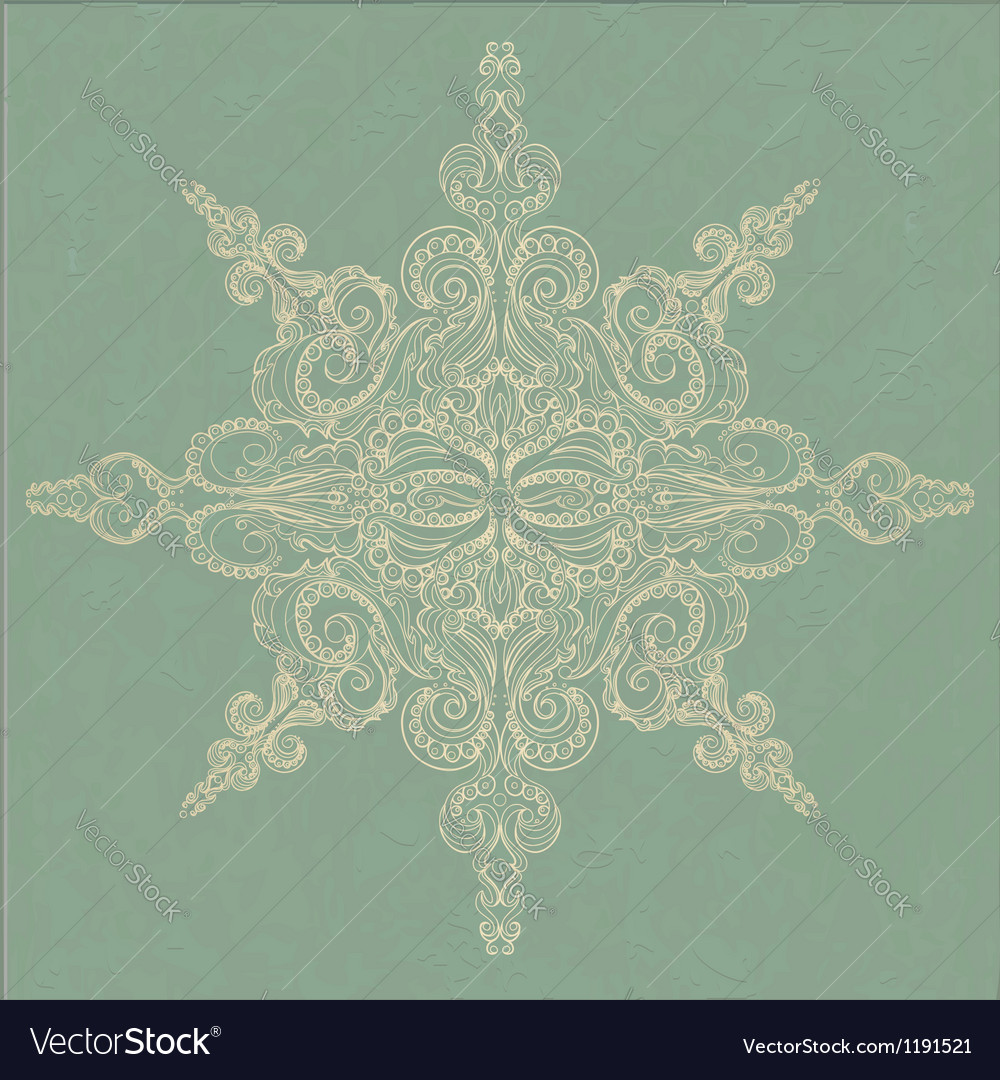 Vintage ornamental pattern vector