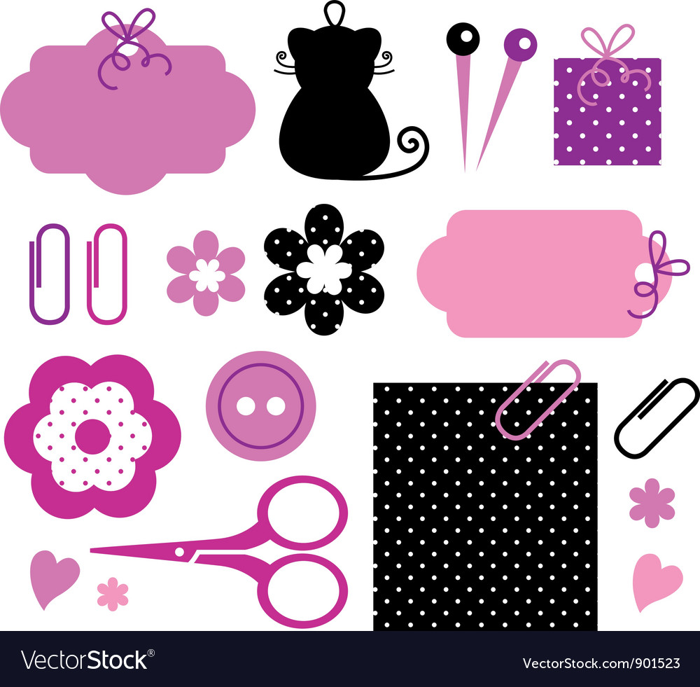 Design elements for handmade fashion vector